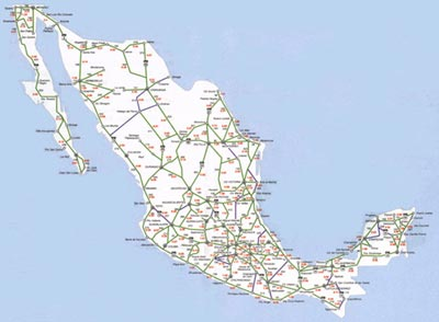 Mexico Toll Road Map Mexico Toll Roads & Travel Times